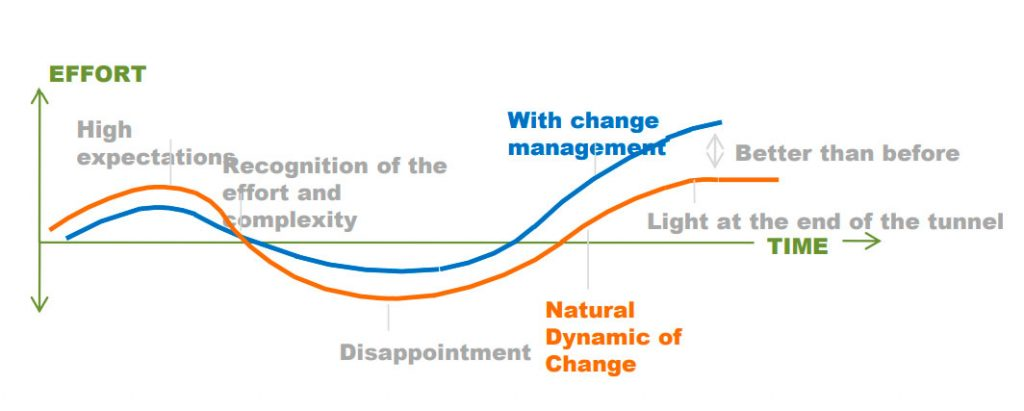 Tiem and effort in Change Management